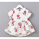 povoljno Haljinice za bebe-Dijete Djevojčice Cvjetni print Kratkih rukava Haljina