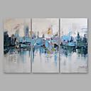 billige Landskapsmalerier-Hang malte oljemaleri Håndmalte - Abstrakt Moderne Inkluder indre ramme / Tre Paneler / Stretched Canvas