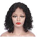 tanie Peruki z włosów ludzkich-Włosy naturalne remy Koronkowy przód Peruka Włosy brazylijskie Kędzierzawy Peruka Krótki Bob 130% Damskie Krótki Peruki koronkowe z naturalnych włosów