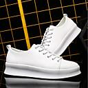 זול נעלי ספורט לגברים-בגדי ריקוד גברים PU אביב נוחות נעלי ספורט לבן / שחור / אדום