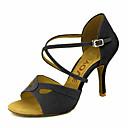 abordables Zapatos de Baile Latino-Mujer Zapatos de Baile Latino / Zapatos de Salsa Terciopelo Sandalia / Tacones Alto Hebilla / Corbata de Lazo Tacón Personalizado Personalizables Zapatos de baile Negro / Amarillo / Rojo / Cuero