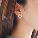 olcso Divat fülbevalók-Női Mértani Beszúrós fülbevalók - Virágos / Botanikus, Leaf Shape, Virág Édes Arany / Ezüst Kompatibilitás Napi Utca