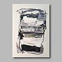 olcso Absztrakt festmények-Hang festett olajfestmény Kézzel festett - Absztrakt Kortárs Tartalmazza belső keret / Nyújtott vászon