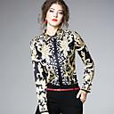 זול סיכות אופנתיות-פייסלי צווארון חולצה סגנון רחוב חגים / עבודה חולצה - בגדי ריקוד נשים דפוס