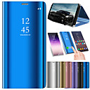cheap Cell Phone Cases & Screen Protectors-Case For Huawei P20 Pro / P20 lite with Stand / Plating / Mirror Full Body Cases Solid Colored Hard PU Leather for Huawei P20 / Huawei