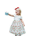 ieftine Seturi Îmbrăcăminte Fete-Copii Fete Dulce / Șic Stradă Petrecere / Concediu Floral Dantelă / Plasă Fără manșon Midi Bumbac / Poliester Rochie Alb