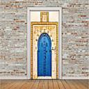 tanie Naklejki ścienne-Naklejki na drzwi - Naklejki ścienne lotnicze / Świąteczne naklejki ścienne Kształty / 3D Salon / Sypialnia