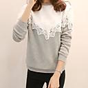 billige Hættetrøjer og sweatshirts til damer-Dame Basale Sweatshirt - Farveblok Bomuld / Efterår / Vinter