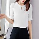 זול סט תכשיטים-חולצת נשים - צוואר בצבע מלא