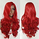cheap Synthetic Lace Wigs-Synthetic Lace Front Wig Wavy Style Layered Haircut Lace Front Wig Red Red Synthetic Hair Women's Adjustable / Heat Resistant / Women Red Wig Long Modernfairy Hair Natural Wigs / Natural Hairline