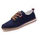 זול סניקרס לגברים-בגדי ריקוד גברים PU סתיו נוחות נעלי ספורט כחול כהה / אפור כהה / אפור בהיר