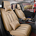 cheap Car Air Purifiers-ODEER Car Seat Covers Headrest & Waist Cushion Kits Beige Textile / PU Leather Common for universal All years All Models