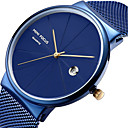 cheap CCTV Cameras-MINI FOCUS Men's Wrist Watch Quartz Calendar / date / day Casual Watch Cool Stainless Steel Band Analog Luxury Minimalist Black / Blue / Silver - Silver Blue Rose Gold