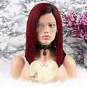 povoljno Bojane ekstenzije-Remy kosa Lace Front Perika Bob frizura Kratak Bob stil Brazilska kosa Ravan kroj Crvena Perika 130% Gustoća kose s dječjom kosom Bojanje Žene Kratko Srednja dužina Perike s ljudskom kosom Luckysnow
