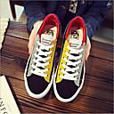 זול סניקרס לנשים-בגדי ריקוד נשים נעליים קנבס אביב קיץ נוחות נעלי ספורט שטוח בוהן עגולה לבן / שחור / סגול