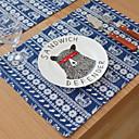 povoljno Posude za kuhanje-Suvremena PVC Kvadrat Podmetači za stolice Vez Dekoracije stolova 1 pcs