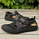 tanie Adidasy męskie-Męskie Komfortowe buty Skóra nappa Lato Sandały Czarny / brązowy / Ciemnobrązowy