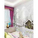 cheap Wall Murals-Wallpaper / Mural Canvas Wall Covering - Adhesive required Botanical / Pattern / 3D