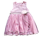 tanie Sukienki dla dziewczynek-Dzieci Dla dziewczynek Podstawowy Solidne kolory Bez rękawów Sukienka