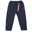 tanie Spodnie dla chłopców-Dzieci Dla chłopców Podstawowy Solidne kolory Patchwork Bawełna / Poliester / Spandeks Spodnie Niebieski 140