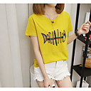 tanie Obuwie dziewczęce-T-shirt Damskie Podstawowy, Nadruk Zwierzę