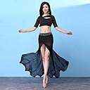 baratos Roupas de Dança do Ventre-Dança do Ventre Roupa Mulheres Treino Fibra Sintética Combinação / Com Fenda Meia Manga Caído Saias / Blusa
