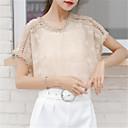 tanie Luksusowe Duvet Okładki-bluzka damska - jednolity okrągły dekolt