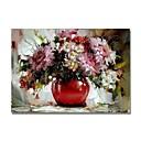 tanie Obrazy olejne-styledecor® nowoczesne ręcznie malowane abstrakcyjne czerwony kwiat doniczka obraz olejny na płótnie na ścianie sztuki gotowe do powieszenia sztuki