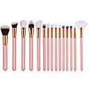 abordables Juegos de Pinceles de Maquillaje-15pcs Pinceles de maquillaje Profesional Sistemas de cepillo Fibra de nilón Ecológica / Suave Madera / Bambú