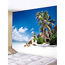 cheap Wall Stickers-Beach Theme Landscape Wall Decor Polyester Contemporary Modern Wall Art, Wall Tapestries Decoration