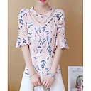 ieftine Îmbrăcăminte de Fitness, Alergat & Yoga-Pentru femei Stil Nautic Bluză Bumbac De Bază - Floral Dantelă / Decupată / Imprimeu / Vară / Modele florale