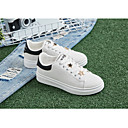 ieftine Tocuri de Damă-Pentru femei Pantofi Imitație Piele Primavara vara Pantofi vulcanizați Adidași Toc Drept Vârf rotund Sclipici Strălucitor Alb / Negru /
