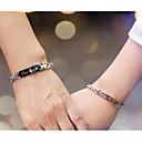 preiswerte Ringe-Damen Ketten- & Glieder-Armbänder - Alphabet Form Einfach, Modisch Armbänder Schwarz / Rotgold Für Hochzeit Alltag / 2pcs