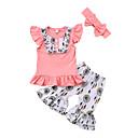 ieftine Seturi Îmbrăcăminte Fete-Copil Fete Imprimeu Peteci Fără manșon Manșon scurt Set Îmbrăcăminte