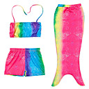 baratos Roupas de Banho para Meninas-Infantil Para Meninas Estampa Colorida Roupa de Banho