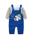 billige Sett med Gutter babyklær-Baby Gutt Aktiv Daglig Trykt mønster Langermet Normal Bomull Tøysett Blå