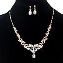 ieftine Seturi de bijuterii-Pentru femei Cristal Lung Set bijuterii - Ștras Include Coliere cu Pandativ / Cercei Dangle Auriu Pentru Serată / Night Out & ocazie speciala / Σκουλαρίκια