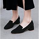 povoljno Ženske oksfordice-Žene Cipele Mekana koža Ljeto Udobne cipele Cipele na petu Kockasta potpetica Zatvorena Toe Crn / Braon / Pink