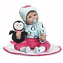 ราคาถูก Reborn Dolls-NPKCOLLECTION ตุ๊กตา NPK Reborn Dolls เด็กทารก 24 inch ซิลิโคน - ของขวัญ น่ารัก Child Safe Non Toxic การปลูกถ่ายประดิษฐ์ตาสีฟ้า เล็บปลอมและเล็บ เด็ก เด็กผู้หญิง Toy ของขวัญ