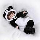 ieftine Păpuși-NPKCOLLECTION Păpuși Renăscute Bebe Băiețel 18 inch Nou nascut Cadou Artificial Implantation Brown Eyes Lui Kid Băieți / Fete Jucarii Cadou