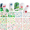 cheap Earrings-12 pcs Full Nail Stickers nail art Manicure Pedicure Colorful Nail Decals Wedding / Party / Dailywear