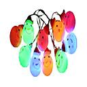 tanie Nowoczesne oświetlenie-1.5 m Łańcuchy świetlne 10 Diody LED Wielokolorowy Dekoracyjna Zasilanie bateriami AA 1 szt.