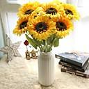 رخيصةأون زهور اصطناعية-زهور اصطناعية 5 فرع أسلوب بسيط / Wedding Flowers عباد الشمس / الزهور الخالدة أزهار الطاولة
