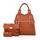 cheap Bag Sets-Women's Bags PU(Polyurethane) Bag Set 3 Pcs Purse Set Buttons Blushing Pink / Gray / Brown