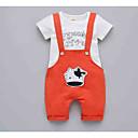 ieftine Set Îmbrăcăminte Bebeluși-Bebelus Unisex Activ Zilnic Imprimeu / Bloc Culoare Manșon scurt Regular Poliester Set Îmbrăcăminte Trifoi 100 / Copil