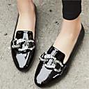cheap Women's Sandals-Unisex Shoes Cowhide Winter Comfort Loafers & Slip-Ons Low Heel Round Toe Rhinestone Black / Gray / Wine