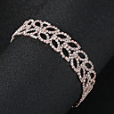 baratos Braceletes-Mulheres Pulseiras em Correntes e Ligações - Formato de Folha Europeu, Fashion Pulseiras Jóias Dourado Para Casamento Diário