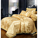 cheap Trend Duvet Covers-Duvet Cover Sets Luxury Polyster Printed & Jacquard 4 PieceBedding Sets / 300 / 4pcs (1 Duvet Cover, 1 Flat Sheet, 2 Shams)