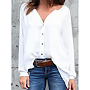 cheap Wallpaper-Women's Blouse - Solid Colored V Neck