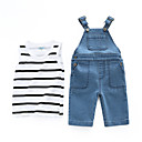 cheap Baby Girls' One-Piece-Baby Boys' Casual Striped Sleeveless Cotton Clothing Set / Toddler